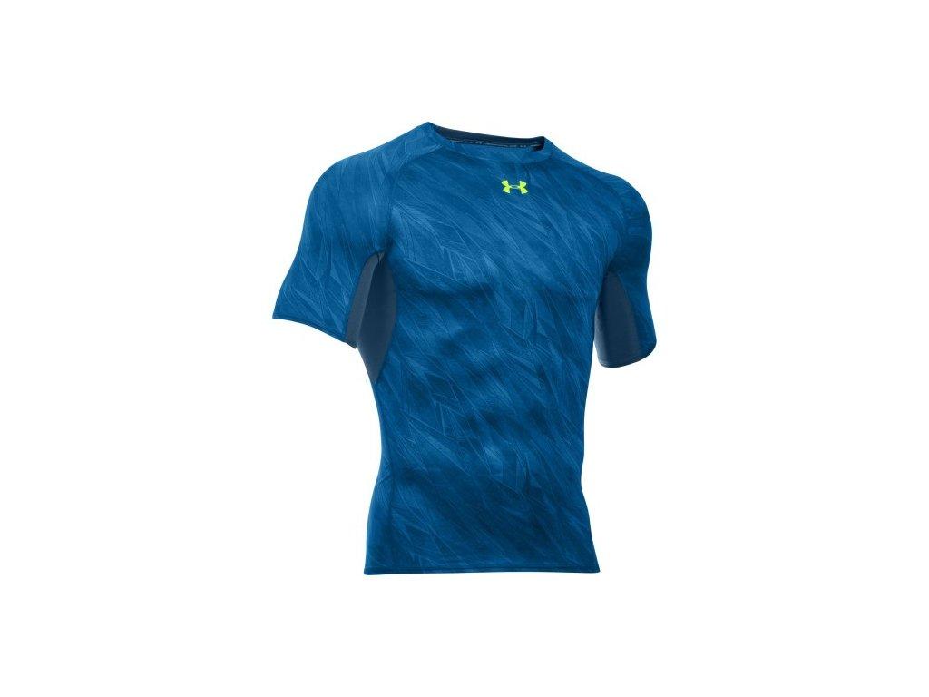 Under Armour Pánské kompresní tričko Under Armour Printed modré
