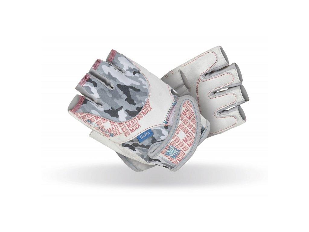 MadMax Fitness rukavice NO MATTER white