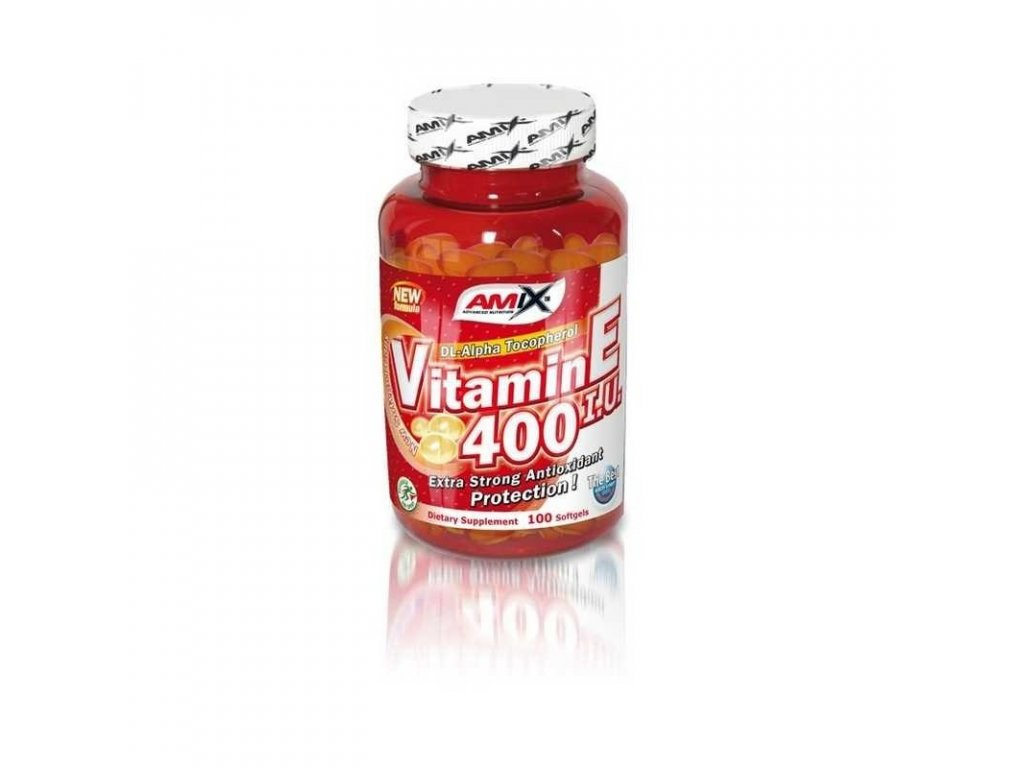 Amix Vitamin E 400 IU 100cps, Min. trvanlivost do 30.06.2019