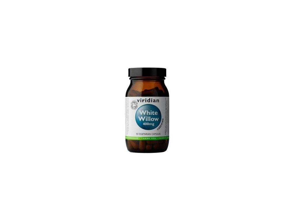 Viridian Nutrition Organic White Willow Bark 400mg 90 kapslí