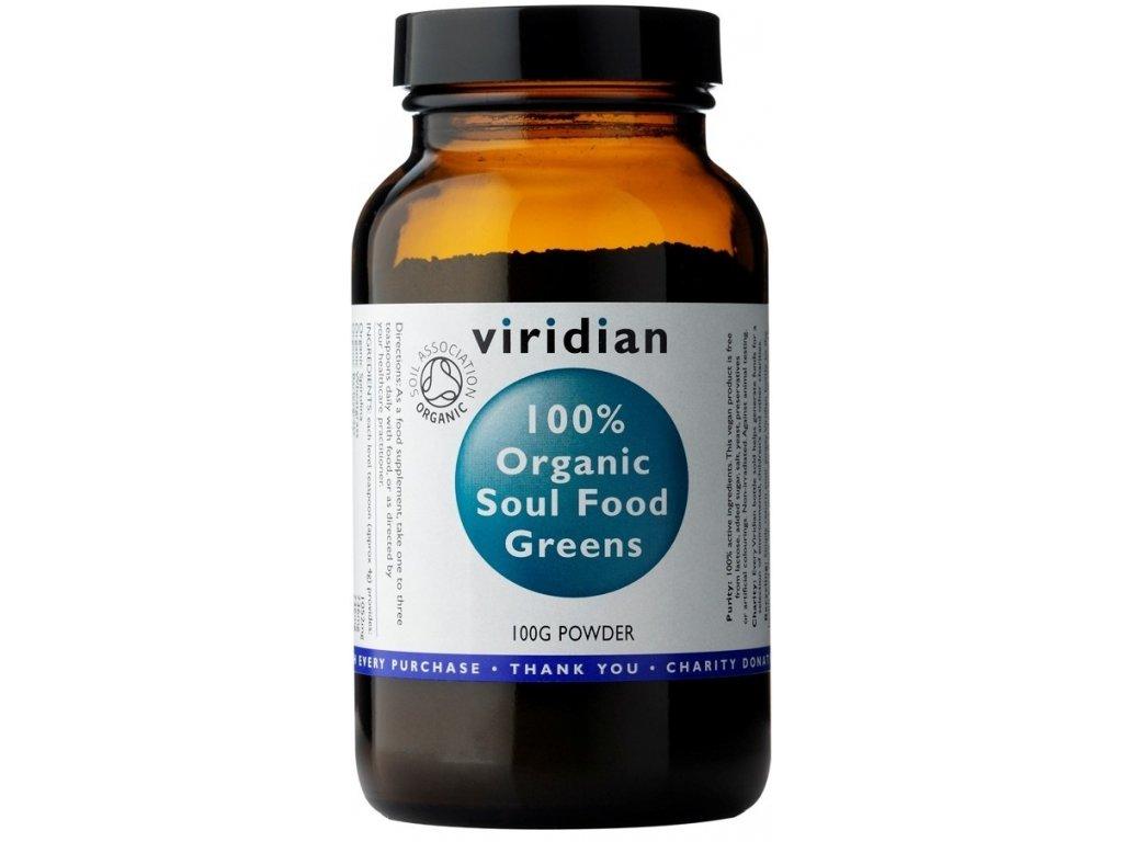 Viridian Nutrition 100% Organic Soul Food Greens 100g