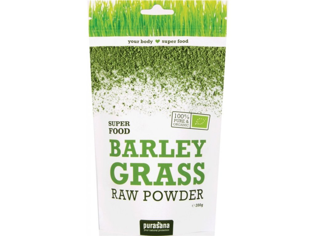 Purasana Barley Powder BIO 200g Expirace 30.6.2019