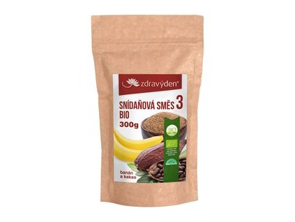 snidanova smes 3 bio banan a kakao 300g.jpg 207x317 q85 subsampling 2