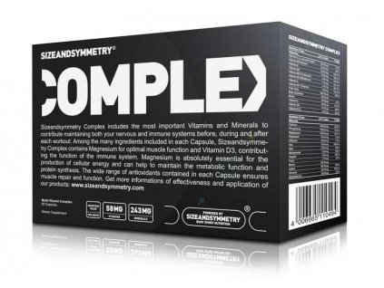 Sizeandsymmetry Nutrition Multivitamin Complex 60 cps