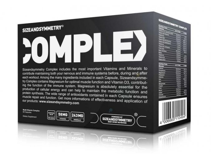 Sizeandsymmetry Nutrition Multivitamin Complex 60 cps