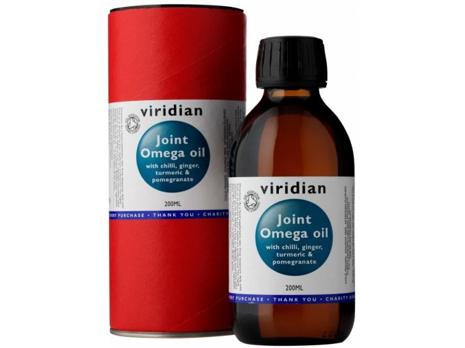 Viridian Nutrition Organic Joint Omega Oil 200ml, Min. trvanlivost do 21.06.2019