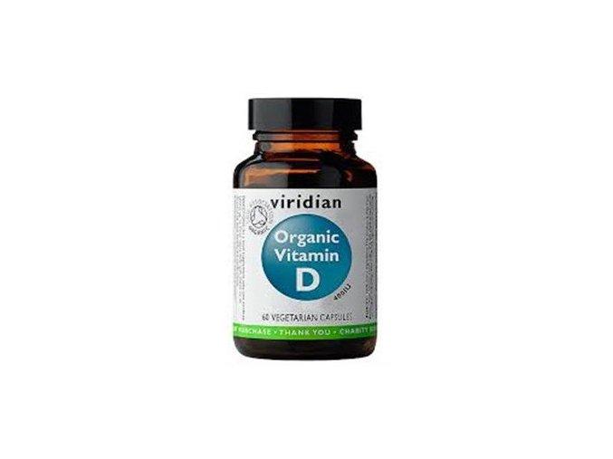 Viridian Nutrition Organic Vitamin D 60 kapslí