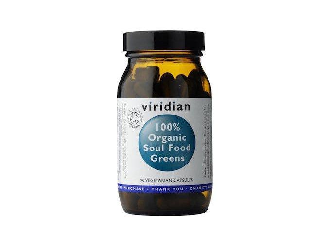 Viridian Nutrition 100% Organic Soul Food Greens 90kapslí