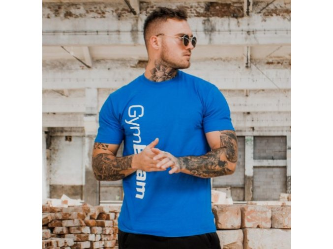 GymBeam Tričko Vertical Blue