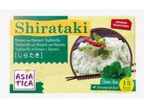 Shirataki špagety TAGLIATELLE SE ŠPENÁTEM