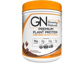 GROWING NATURALS Rice Protein Isolate RAW Powder Chocolate Power