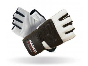 MADMAX Fitness rukavice PROFESSIONAL WHITE