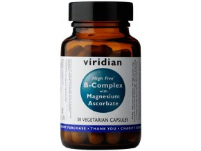 Viridian Nutrition High Five B Complex with Magnesium Ascorbate 90 kapslí