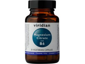 Viridian Nutrition Magnesium Citrate with Vitamin B6 90 kapslí