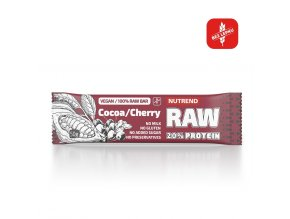 nutrend raw protein bar 50g cherry