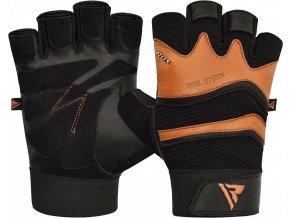 RDX S15 Fitness rukavice - Hnedé