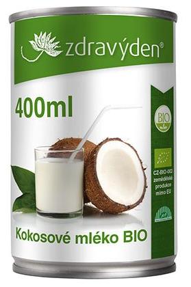 Zdravý den Kokosové mléko BIO Balení: 400ml