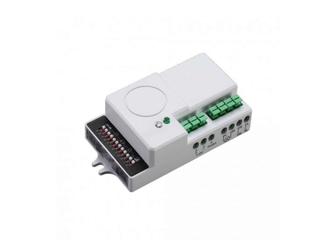 Pohybové čidlo-mikrovlnné SES76WH 600W 360° IP20 obdélníkové bílé ovládání 1-10V