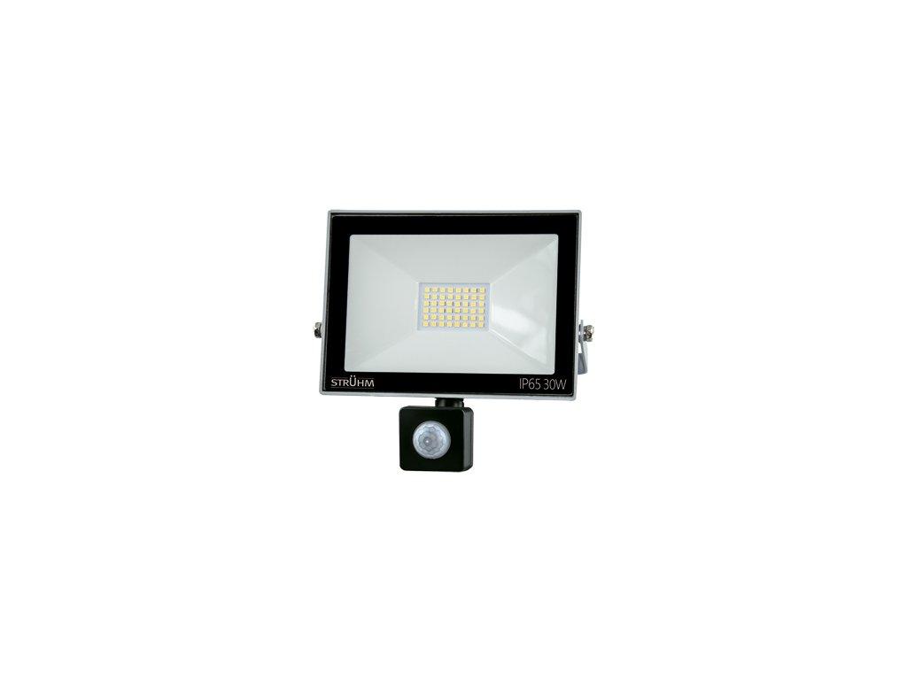 Reflektor KROMA LED S 30W 2400lm 4500K IP65 120° pohyb. senzor šedá
