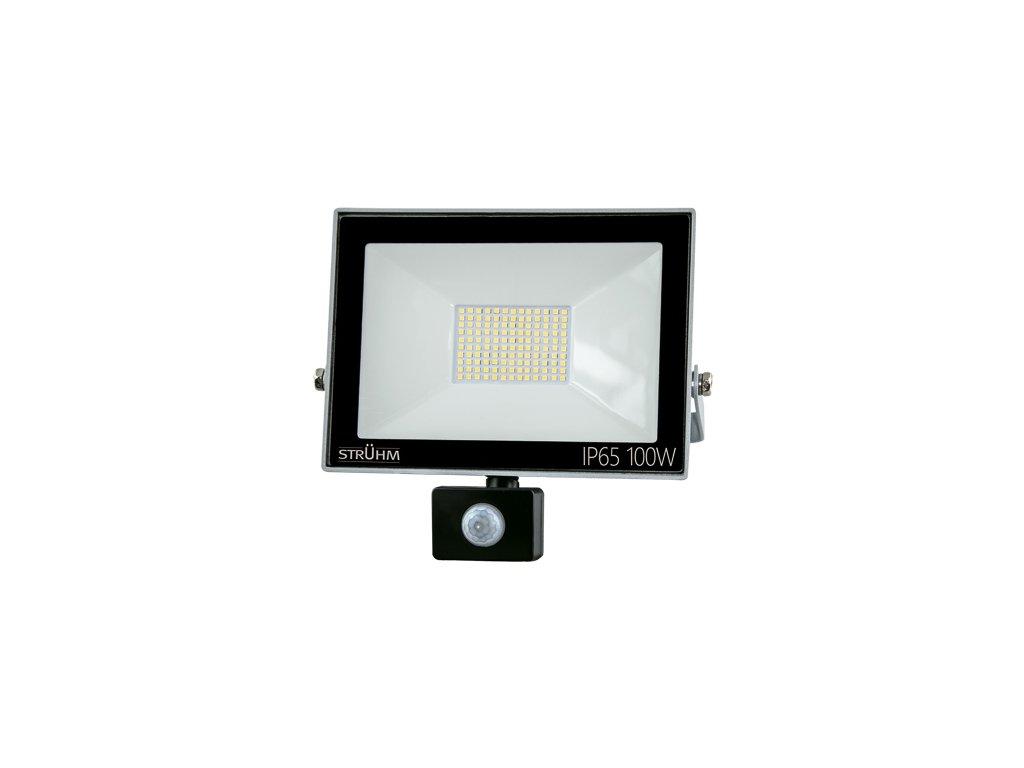 Reflektor KROMA LED S 100W 8000lm 4500K IP65 120° pohyb. senzor šedá
