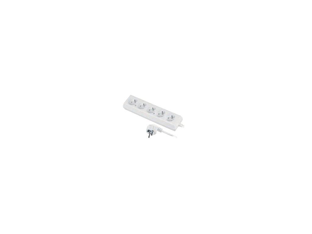 Prodlužovací přívod 5x2p+Z, 250V, 3x1mm, 10A s vypínačem bílá (Délka 10m)