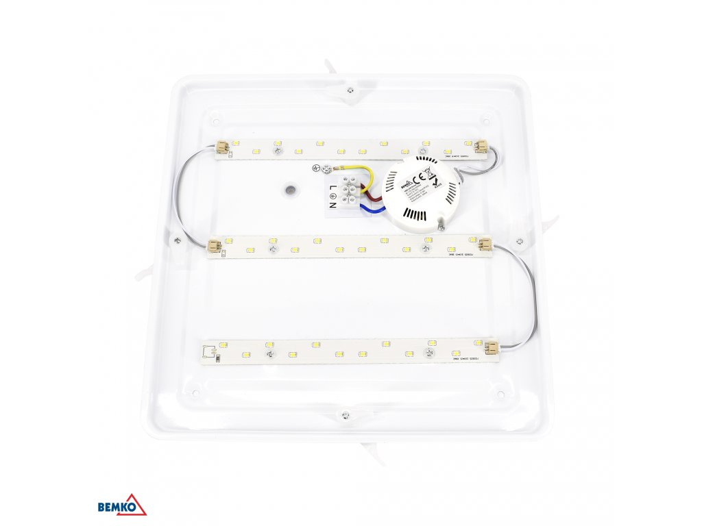 LED svítidlo čtvercové TOFIR 16W IP40 4000K 960lm