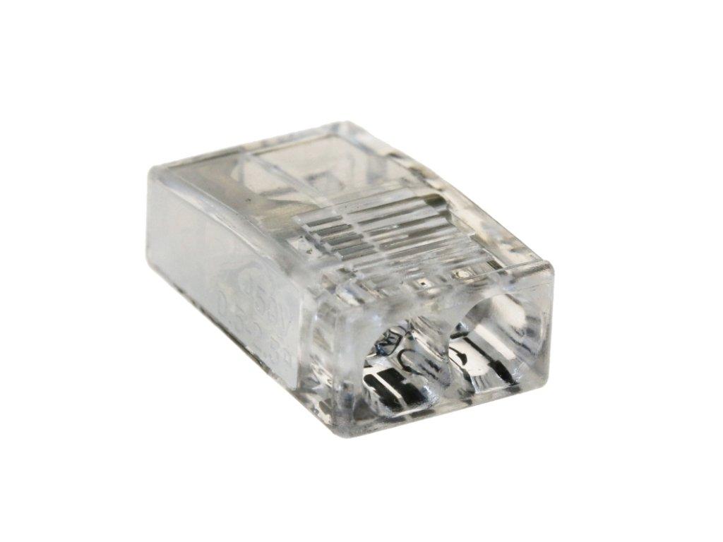 Spojovací svorka 2,5mm x 2 bílá/transparent 100ks