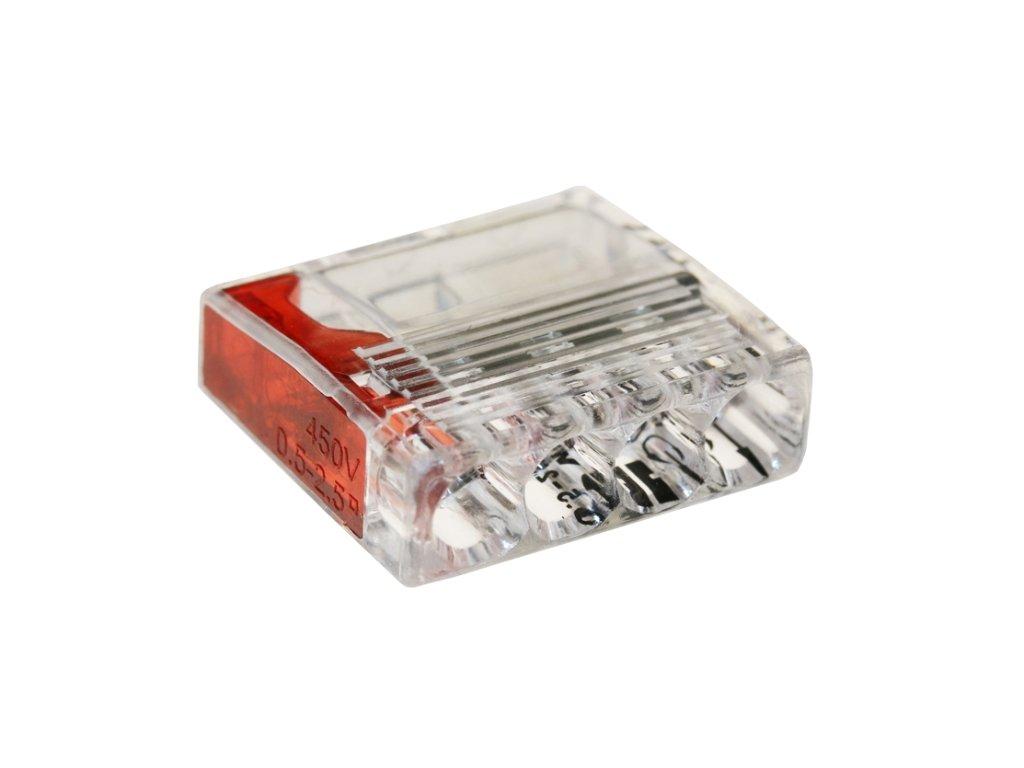 Spojovací svorka 2,5mm x 4 červená/transparent 50ks