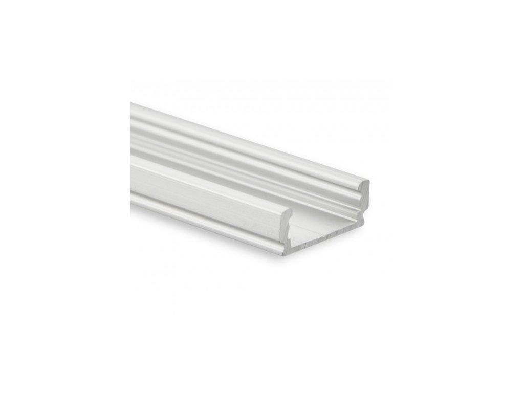 PL1 LED CONSTRUCTION profil 200 cm, plochý, LED pásek max. 12 mm