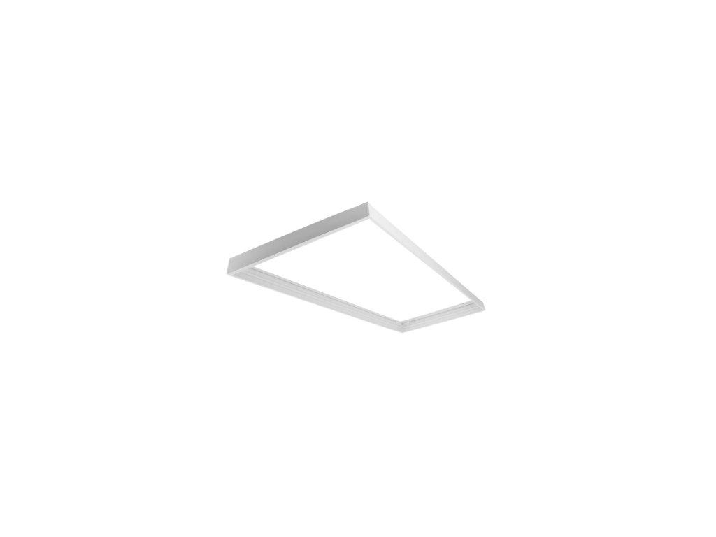 Montážní rámeček pro přisazenou montáž pro LED panel 120x30 - bílá ECO
