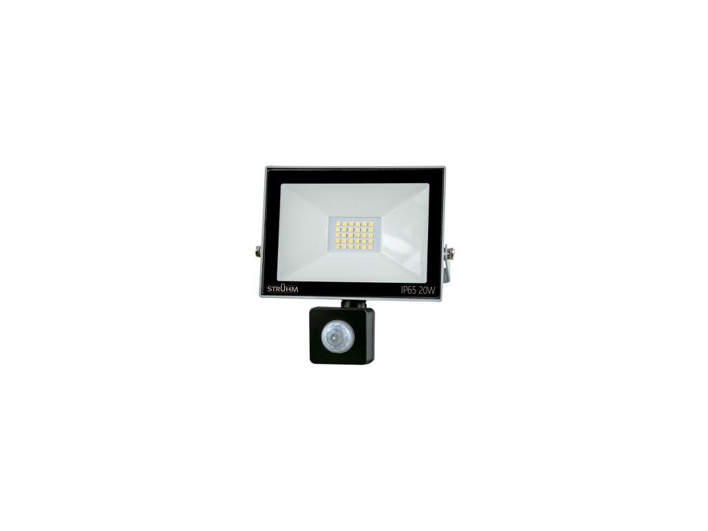Reflektor KROMA LED S 20W 1600lm 6500K IP65 120° pohyb. senzor šedá
