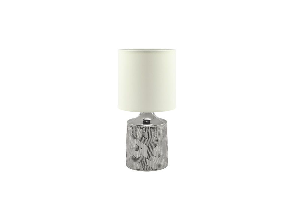 Stolní lampa LINDA E14, bílá/chrom