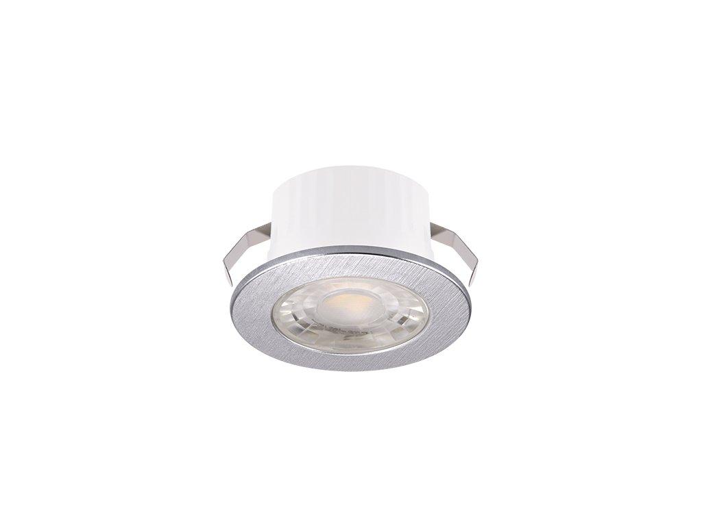Downlight FIN LED C 3W 245lm 4000K IP20 38° stříbrná