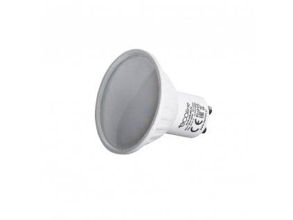 LED žárovka GU-10 6W 230V 400lm matné sklo, teplá 3000K
