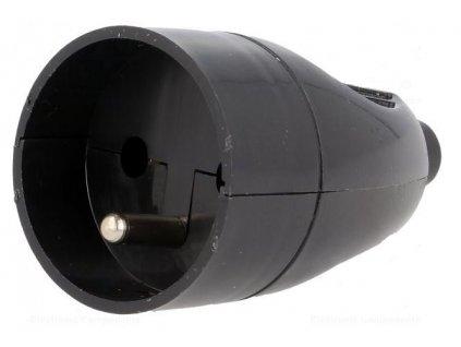 30179 gn 171 spojovaci zasuvka 250v 16a cerna v zavesu