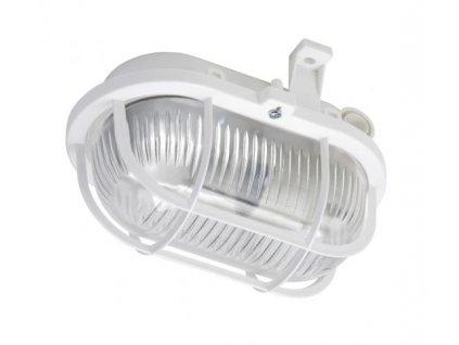 OVAL 60, prismatic, bílá, 1x60W GLS/E27, IP44