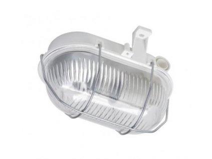 OVAL 60 SIMMETAL 2, prismatic, bílá, 1x60W GLS/E27, IP44