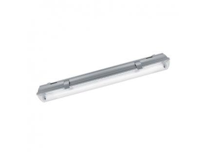 Prachotěsné svítidlo pro 2x T8 LED HERMAN LED 2xT8 60cm max.2x18W IP65 šedá