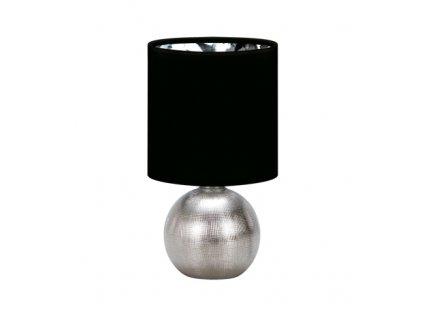 41414 stolni lampicka perlo e14 silver black