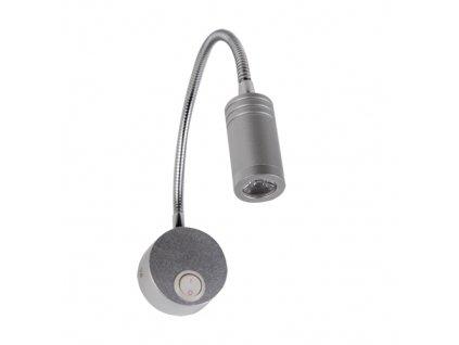 Dekorační lampička TURNA LORI LED 1U 3W 200lm stříbrná