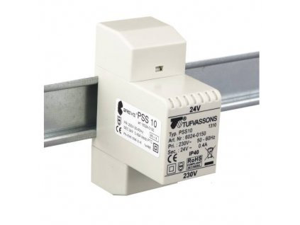PSS  10T 230/ 12V Transformátor jednofázový, na DIN lištu, IP30