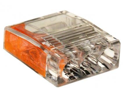 Spojovací svorka 2,5mm x 3 oranž/transparent 50ks