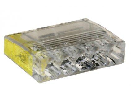 Spojovací svorka 2,5mm x 5 žlutá/transparent 25ks