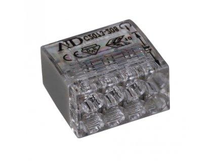 Spojovací svorka 2,5mm x 8 šedá/transparent 10ks