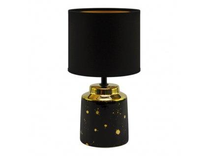 Stolní lampa HELENA, černo-zlatá