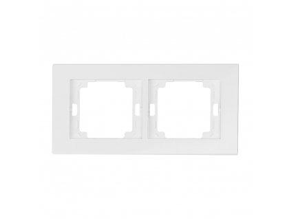 onyx ramka 2x poziom biale