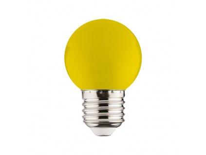 LED žárovka RAINBOW LED 1W 105lm E27 žlutá