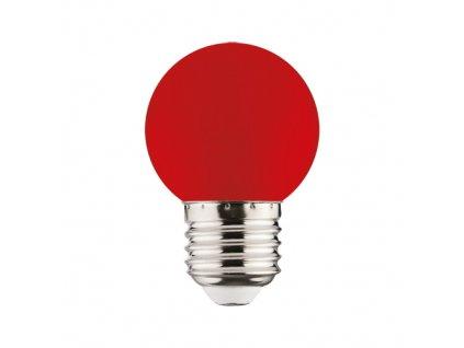 LED žárovka RAINBOW LED 1W 34lm E27 červená