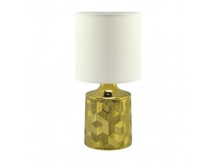 Stolní lampa LINDA E14, bílá/zlatá