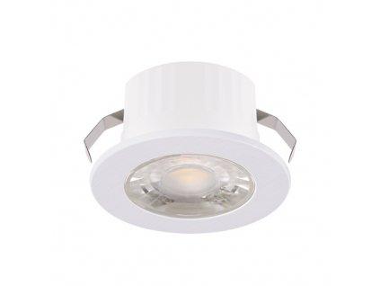 Downlight FIN LED C 3W 245lm 4000K IP20 38° bílá